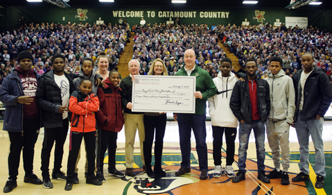 Cats Win Check Presentation